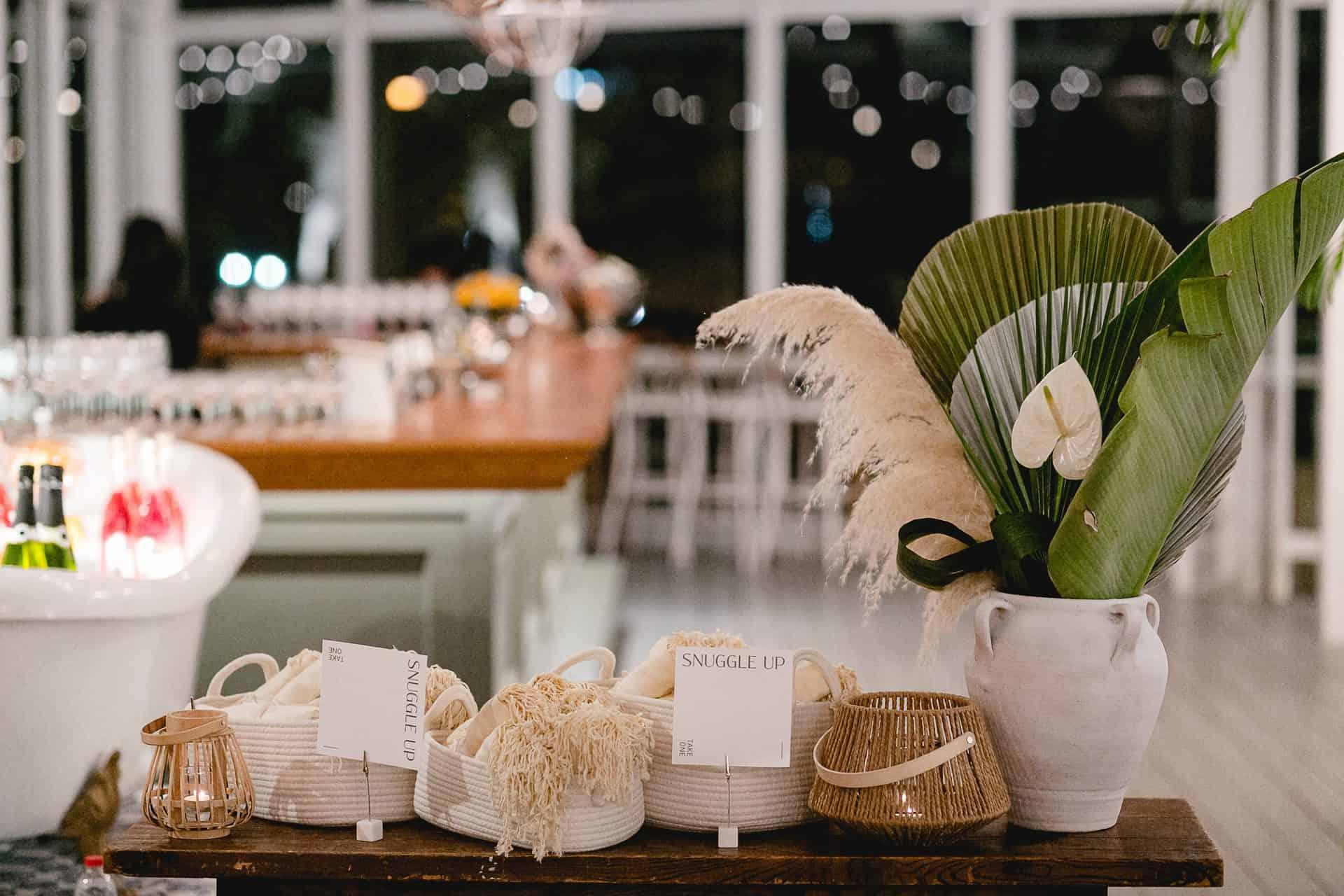 עמדה בחתונה - עיצוב לחתונה