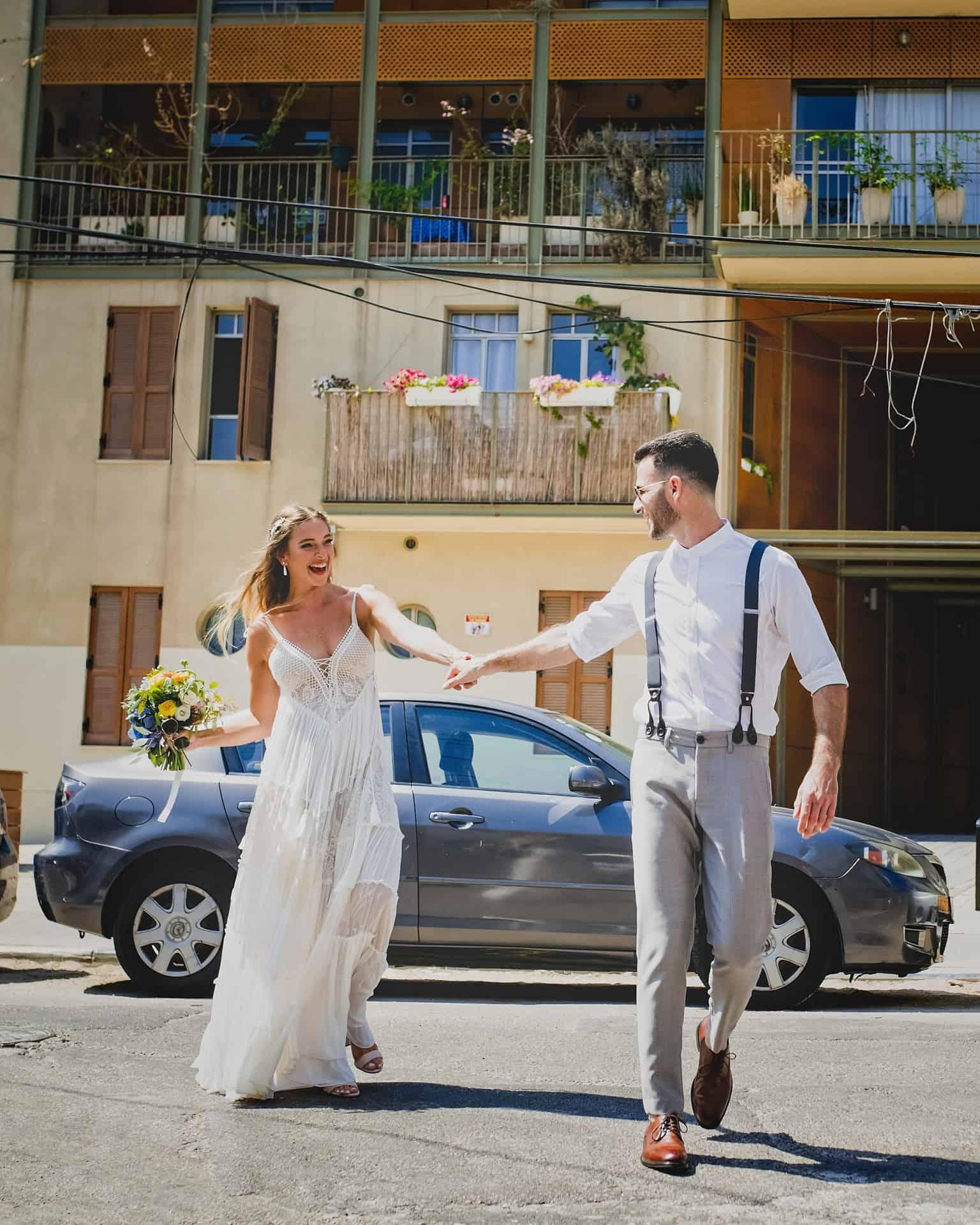 צילומי חתונה אורבניים