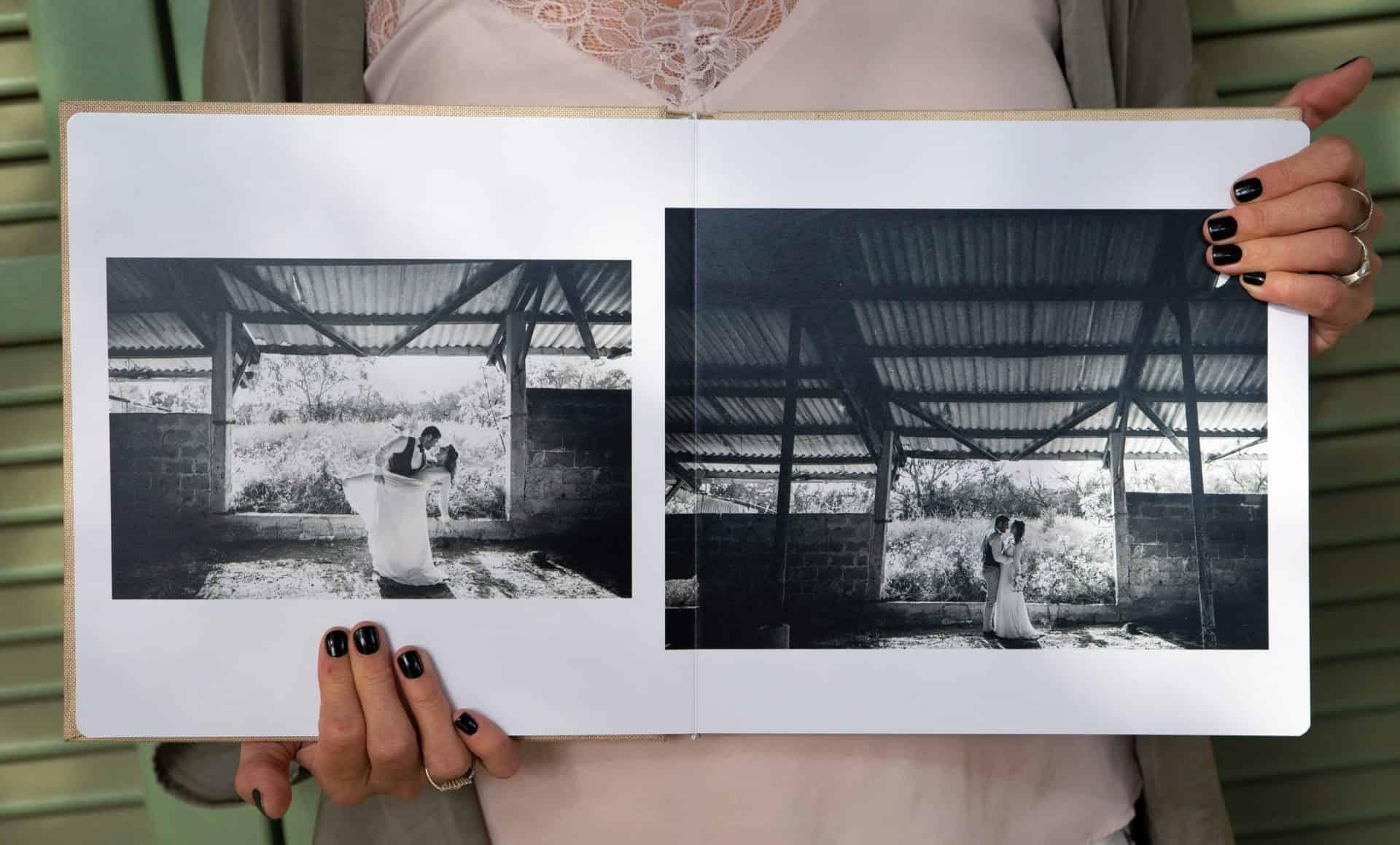 אלבום חתונה שחור לבן