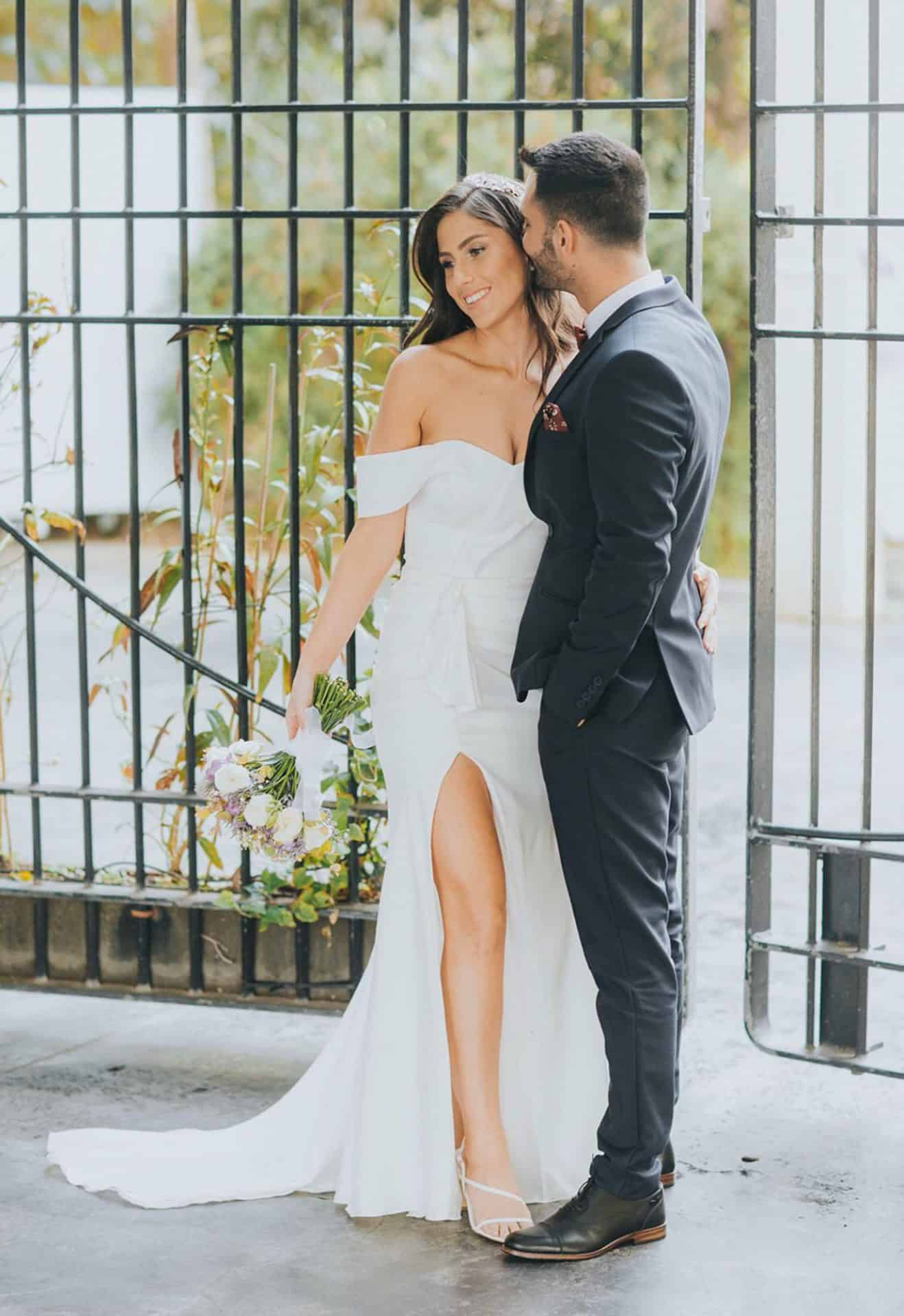 ענת ולירוי בצילומי חוץ של חתונת בזק